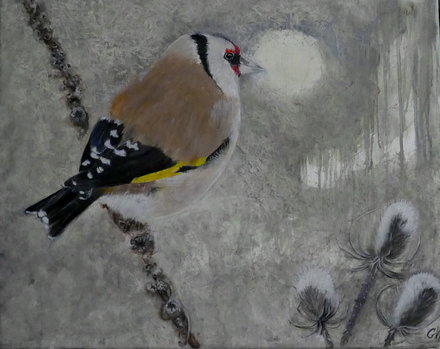 European Goldfinch 50x60 cm